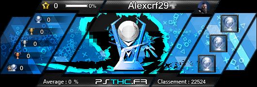 Carte des trophées de Alexcrf29